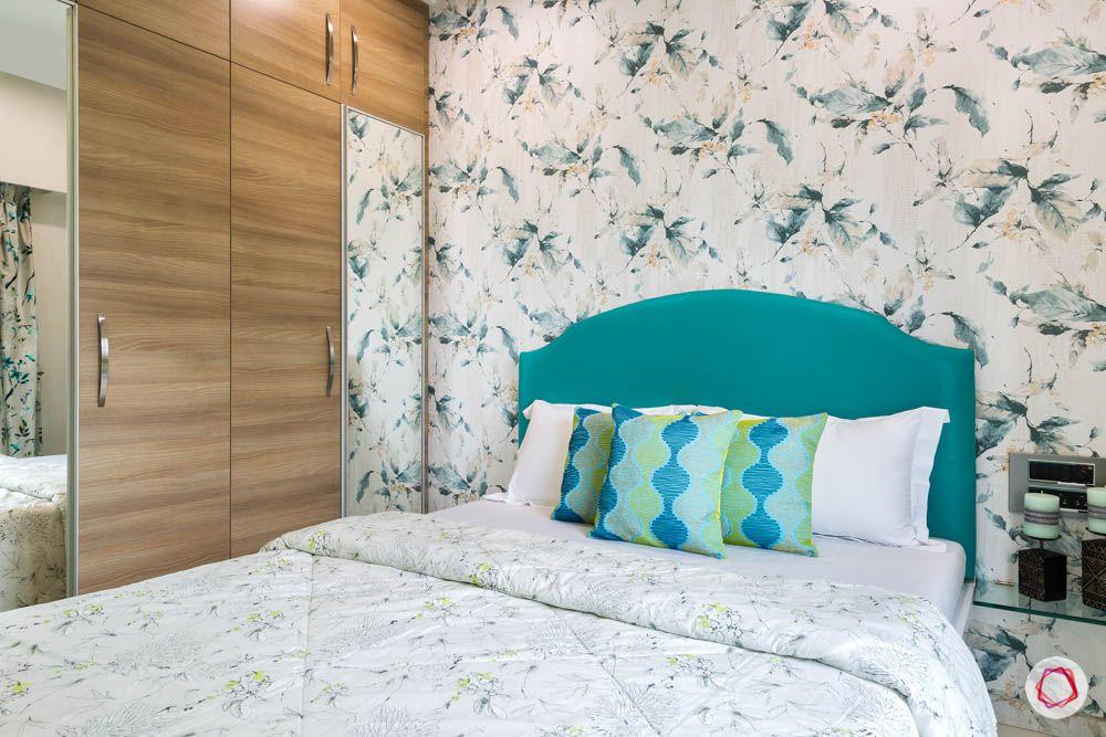 4 bhk flat in mumbai-guest bedroom-laminate wardrobes-swing door wardrobe