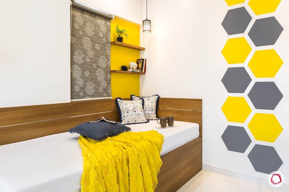 4 bhk flat in mumbai-kids room-yellow and grey theme room