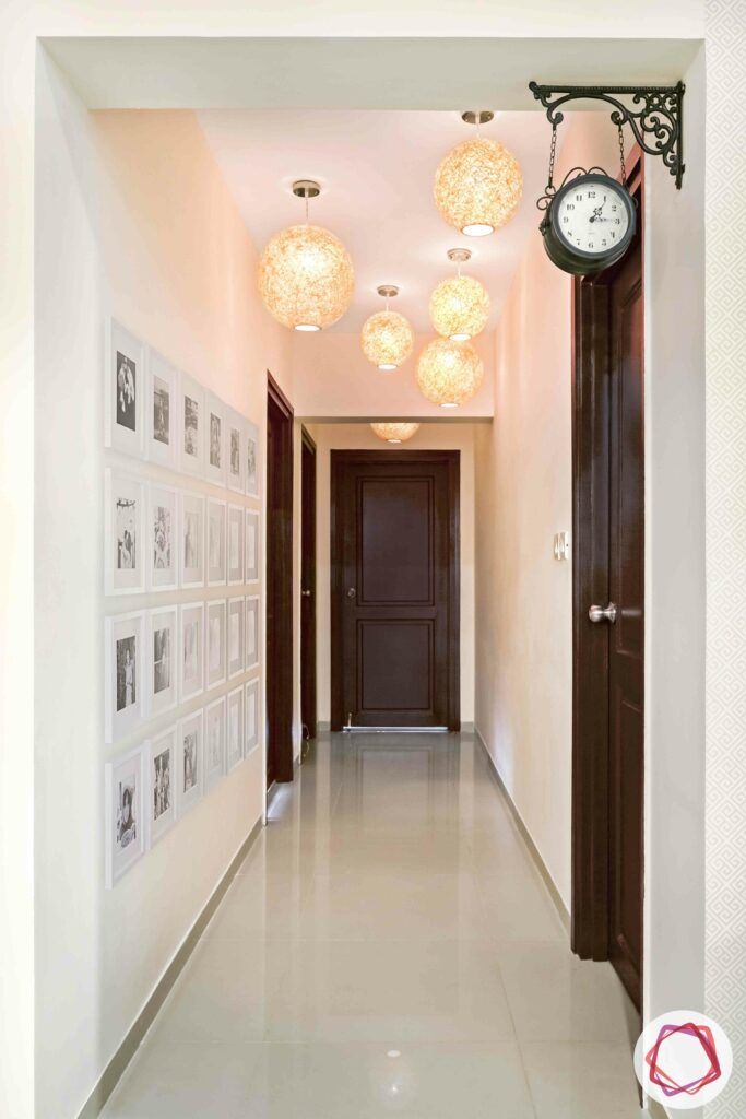 white gallery wall designs-foyer decor ideas