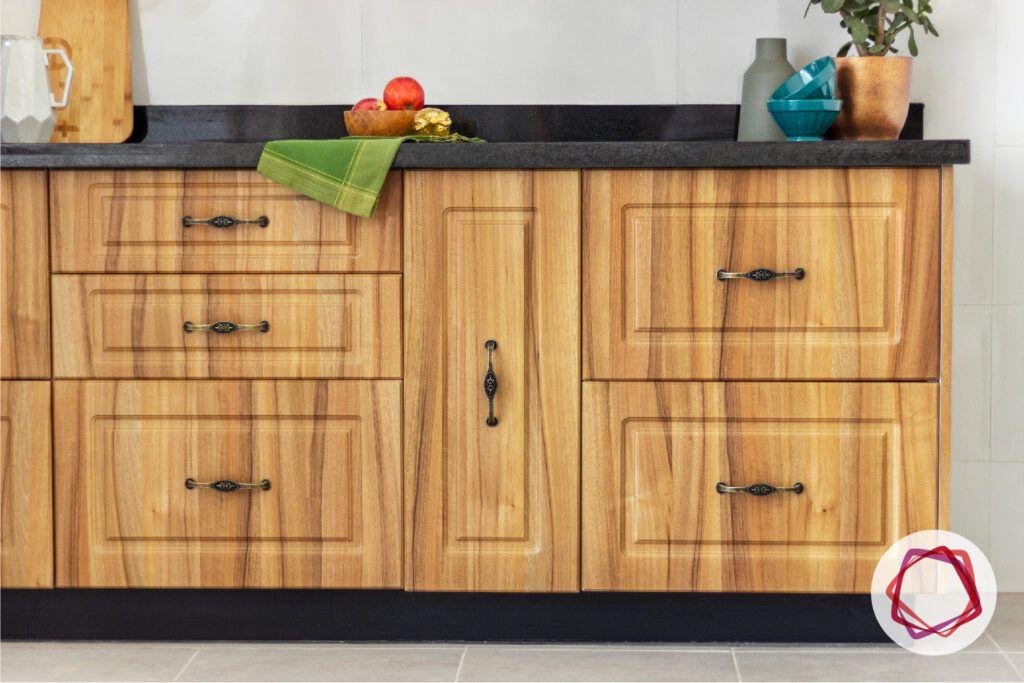unit-wooden cabinets-vintage handles