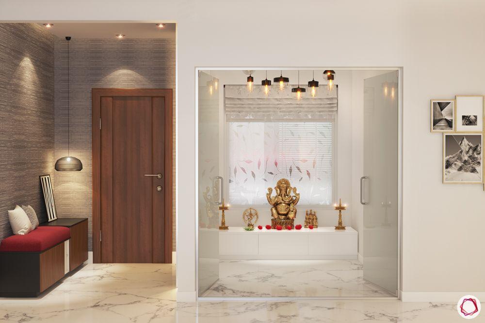pooja-room-door-designs-with-glass-white-pooja-room-glass-doors-marble floor
