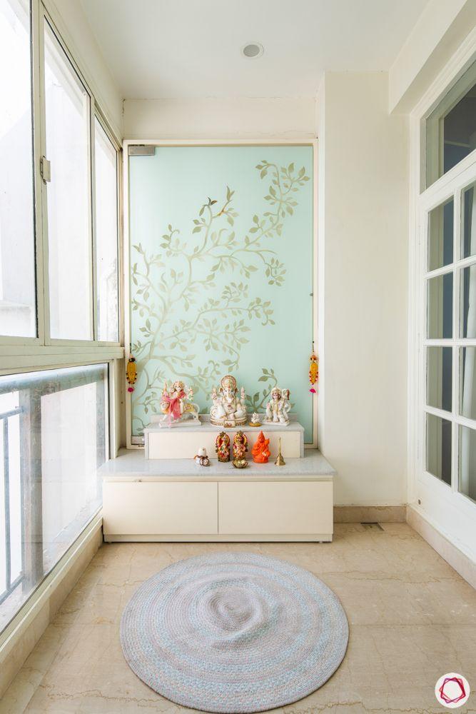 pooja-room-glass-background-etched glass panel-glass pooja room