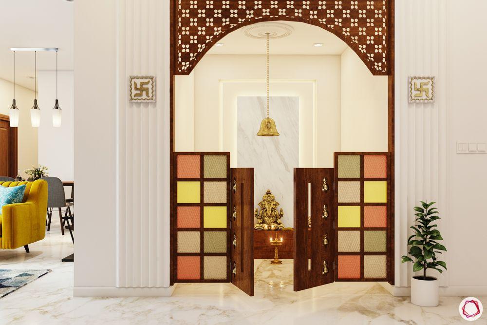 pooja-room-door-designs-coloured glass-coloured glass doors