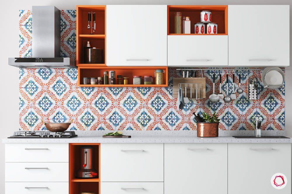 kitchen cupboard designs-orange kitchen