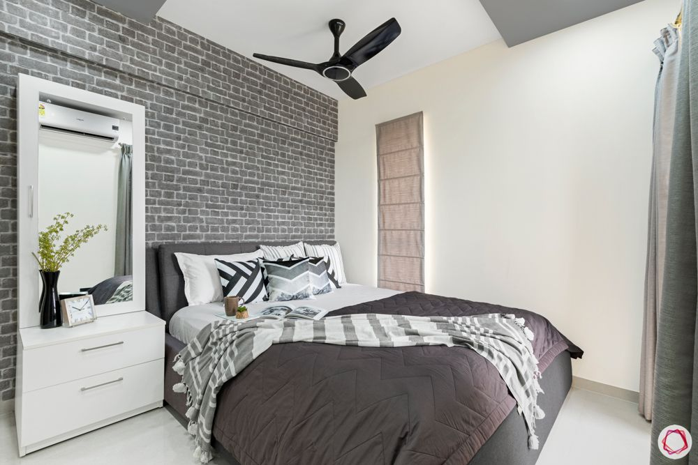 little earth pune-grey bedroom ideas-exposed brick wall designs