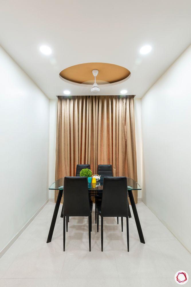 small dining set designs-round false ceiling idea
