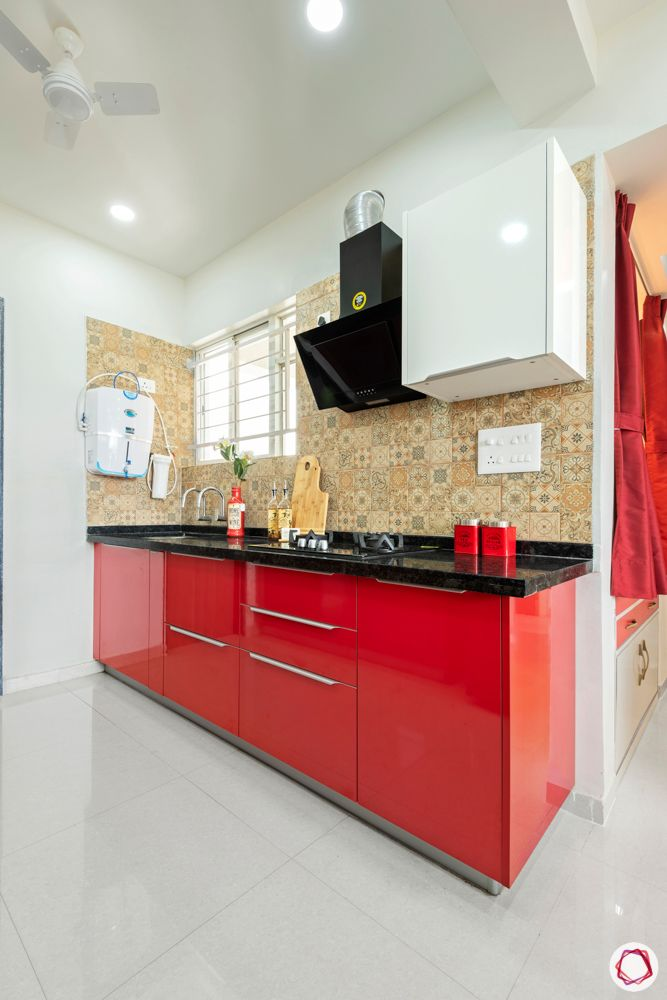 little earth pune-red kitchen designs