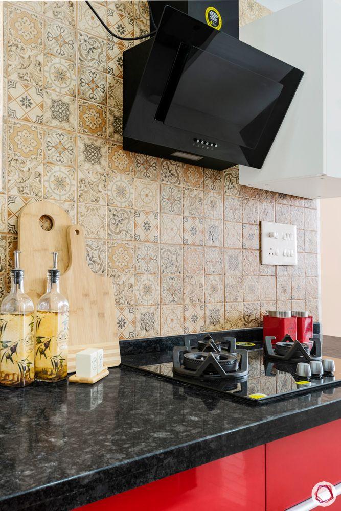 red kitchen designs-granite countertop designs