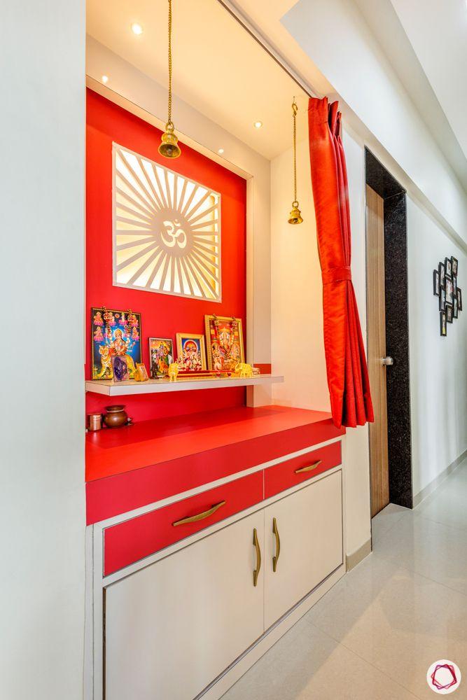 pooja room designs-red pooja room designs