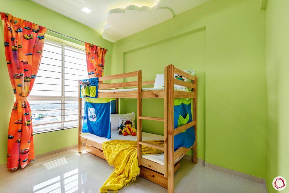 green bedroom designs-false ceiling for kids room