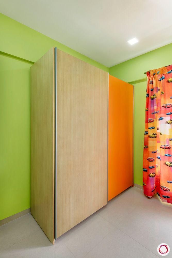 green bedroom designs-orange wardrobe designs