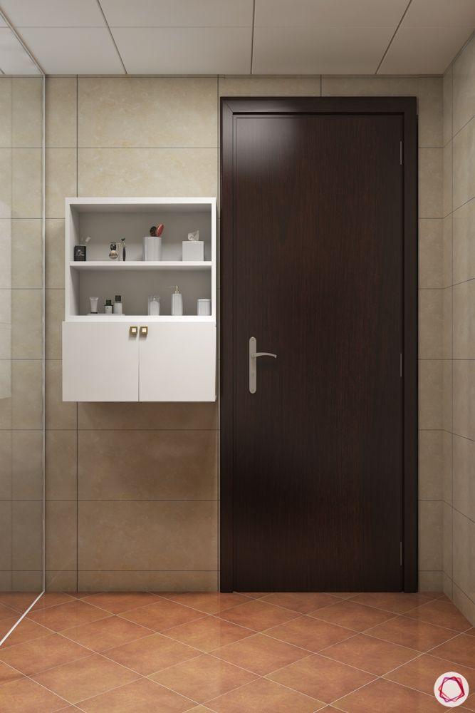 bathroom design mistakes-storage unit-open storage-closed storage
