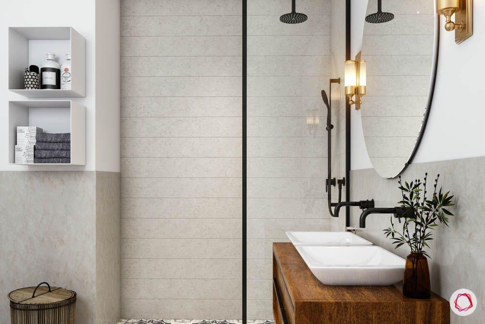 bathroom design mistakes-towel holder-towel rack-shower area-towel storage