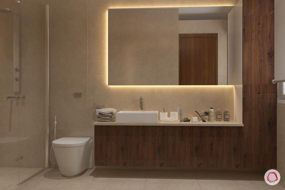 bathroom design mistakes-lighting-ambient light-led strip light-sink light