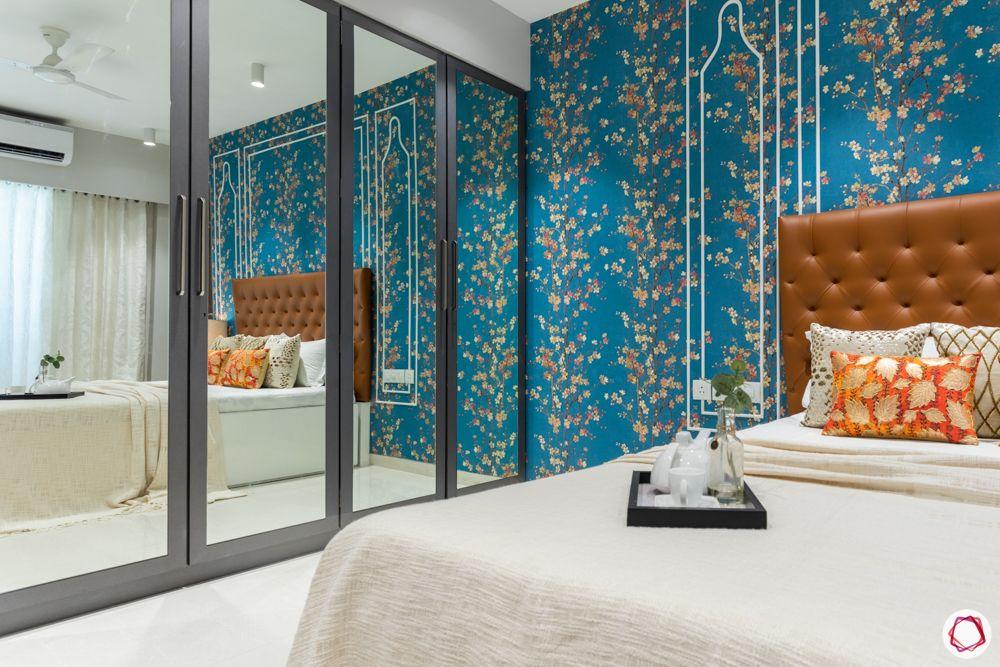 mirror-wardrobe-bedroom-tray-leather-headboard-wallpaper
