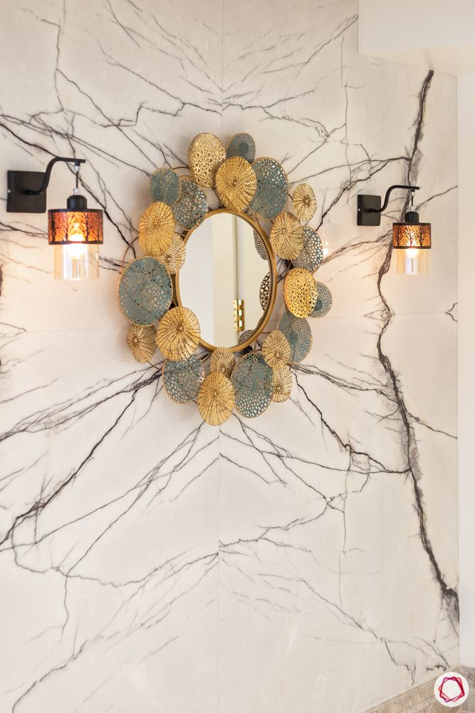 house entrance design_accent mirror_ornate mirror_designer mirror_mirror in foyer