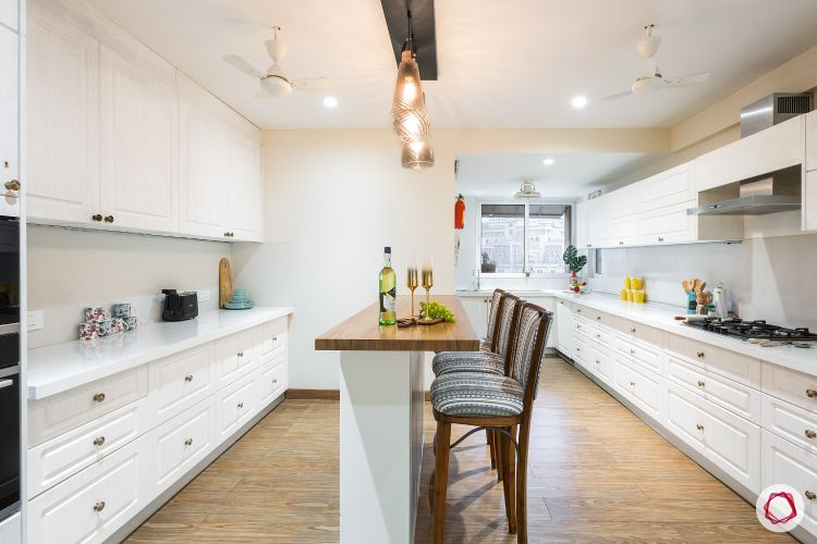 how to make a kitchen look brighter-pendant lights-glass pendants-kitchen island