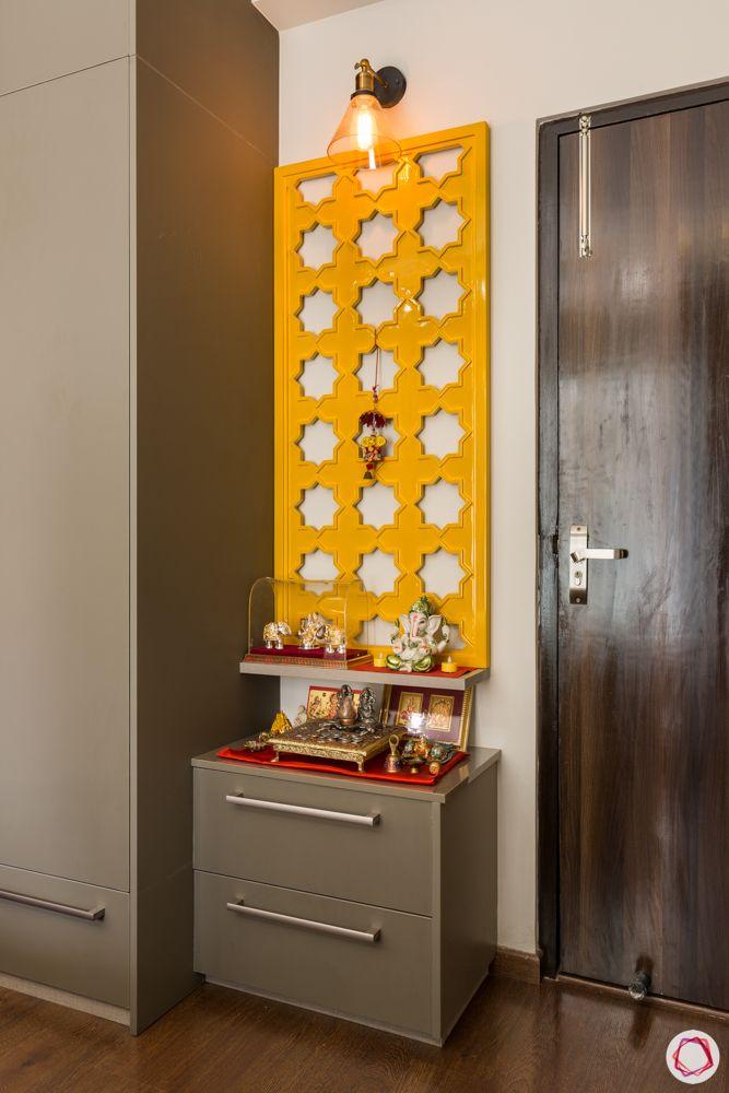 paras irene-yellow jaali-pooja room