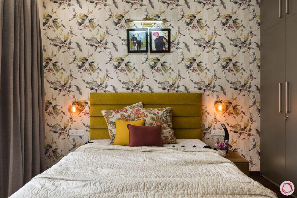 paras irene-mustard yellow bed