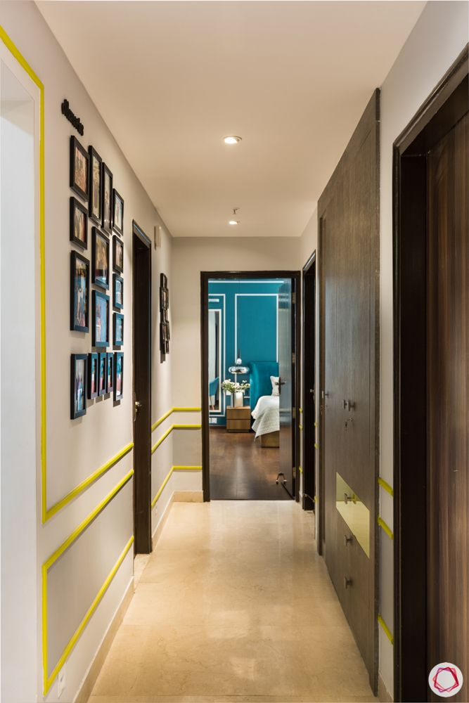 paras irene-yellow trims-picture frames-hallway