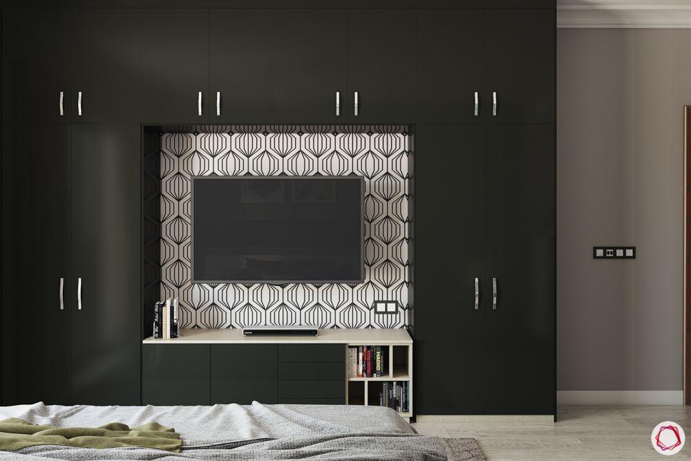 built-in-wardrobe-designs-black-swing-door-wardrobe