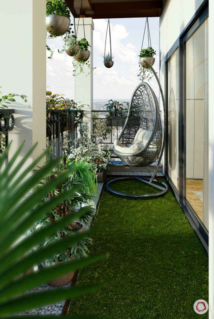 hanging pots for balcony-artifitial turf for balcony