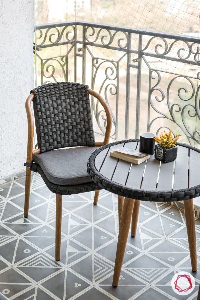 ceramic tiles for balcony-wicker furniture designs