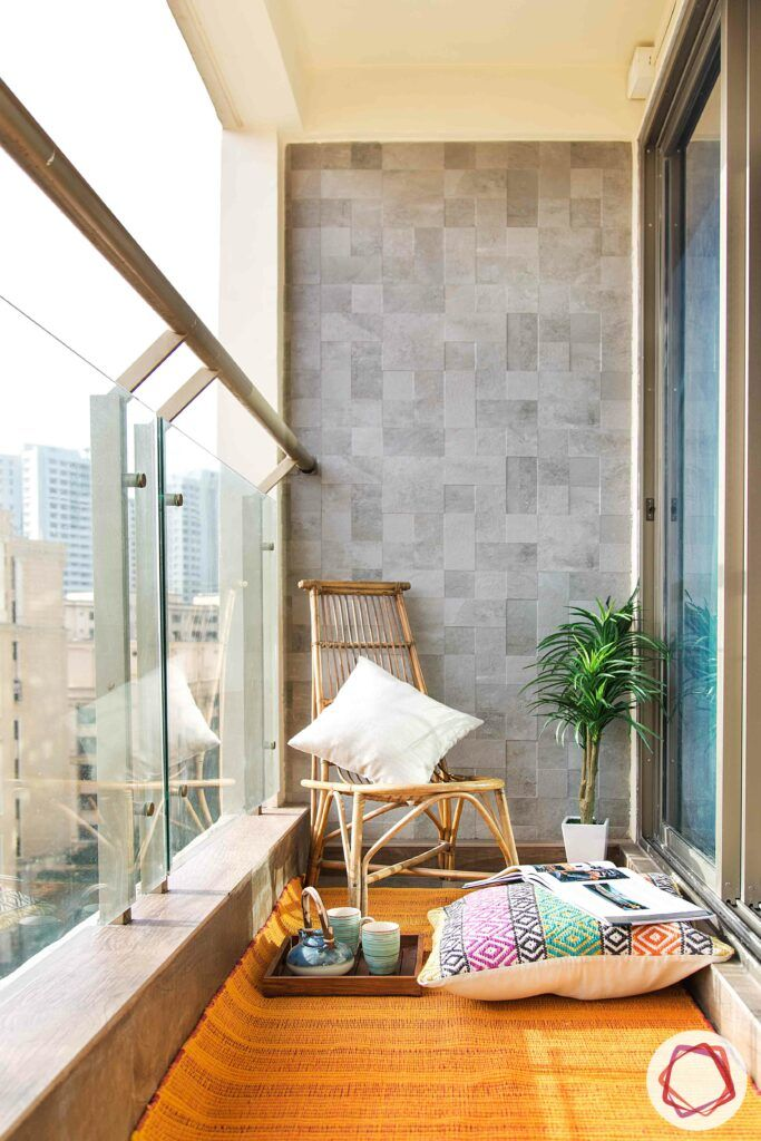 floor seating for balcony-cane furniture for balconies