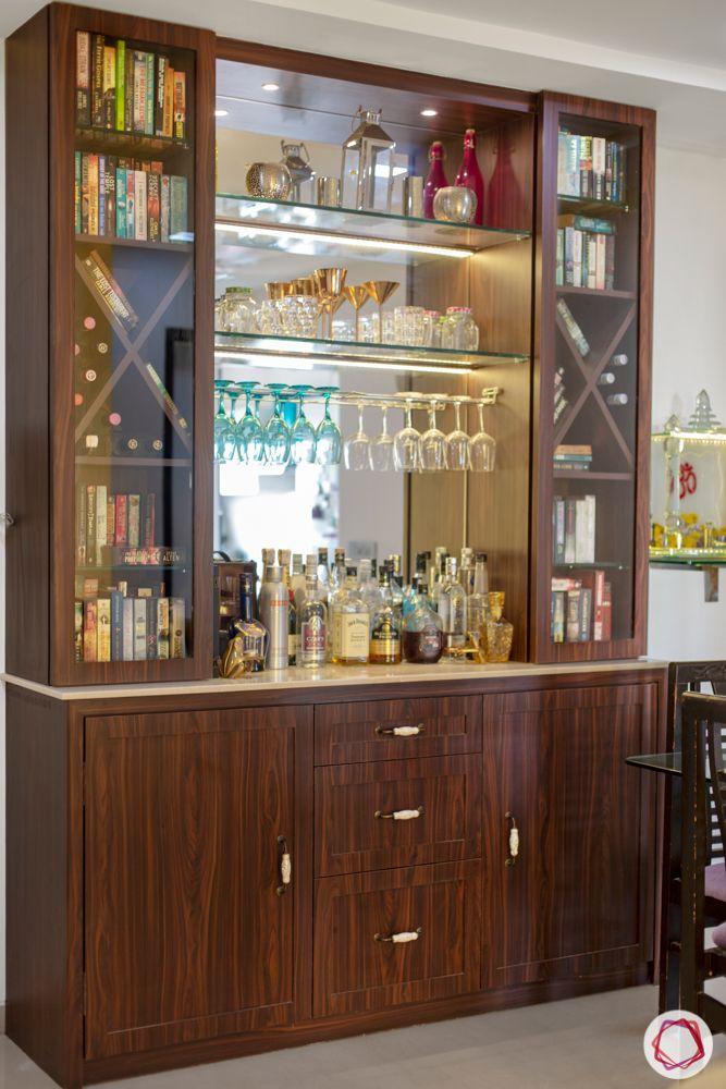 2-bhk-in-mumbai-dining room-customised bar unit