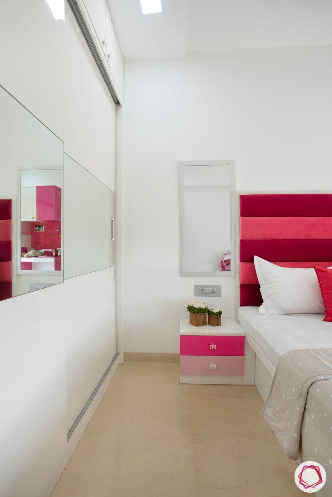 2-bhk-in-mumbai-kids bedroom-wooden flooring-sliding wardrobe
