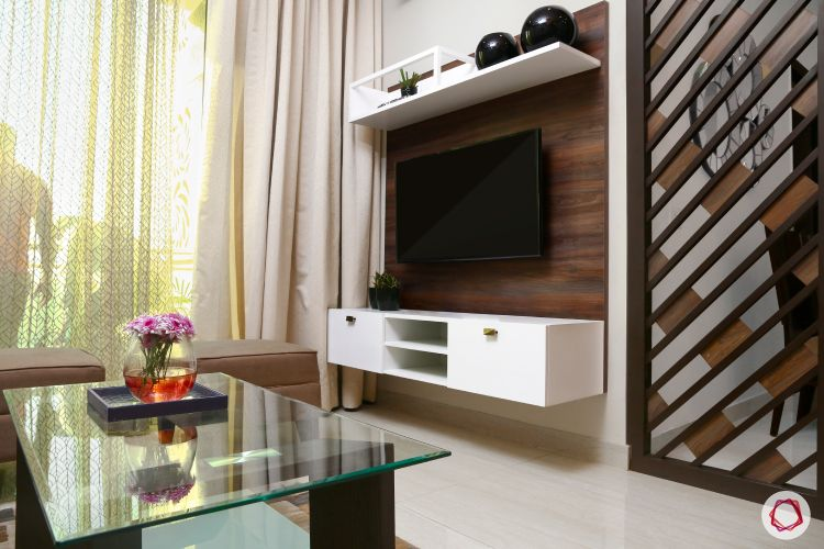 wooden tv unit designs-white cabinets
