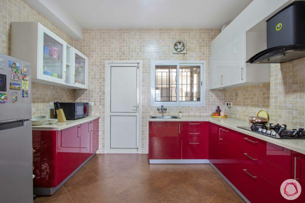 livspace-bangalore-kitchen-storage-cabinets-red-white