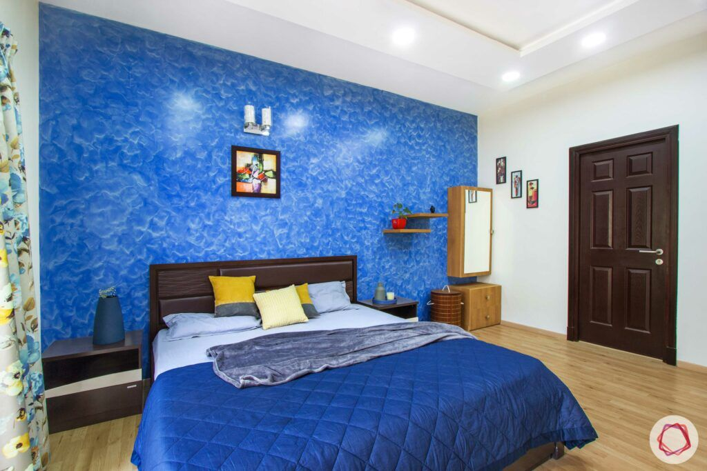 livspace-bangalore-blue-wall-bed-dressing-unit