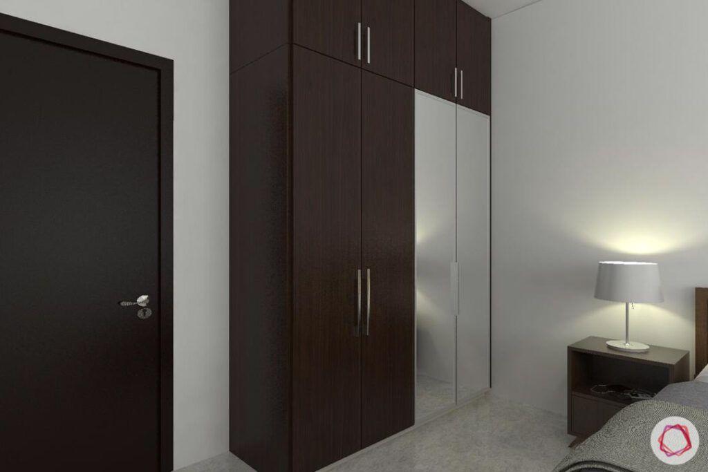 livspace-bangalore-brown-laminate-wardrobe