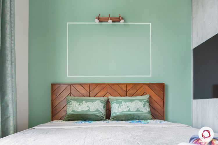 pastel colors-mint green accent wall-mint green cushions-bedroom