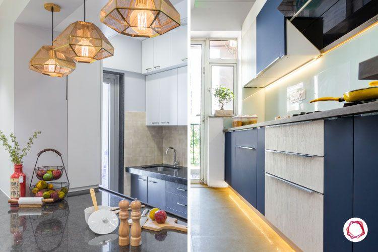 kitchen makeover-pendant lights-led lights-profile lights