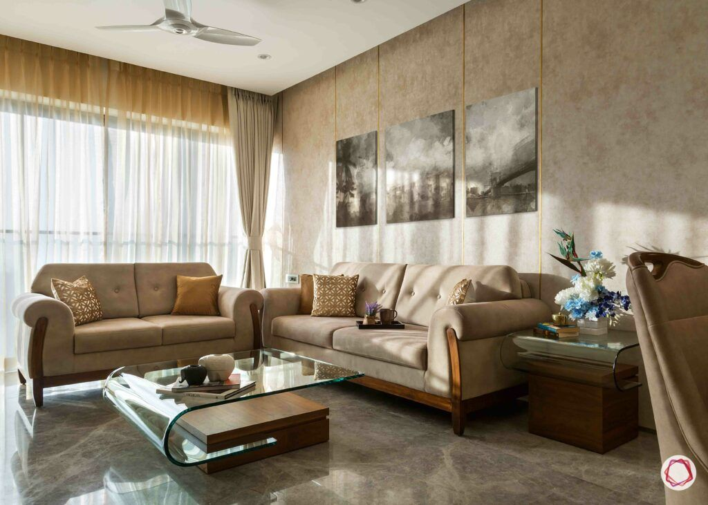 vastu colors for living room-neutral sofa designs-windows