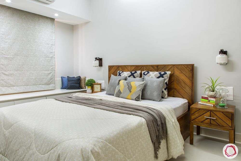 ajmera-wooden bed designs-wooden sidetable designs