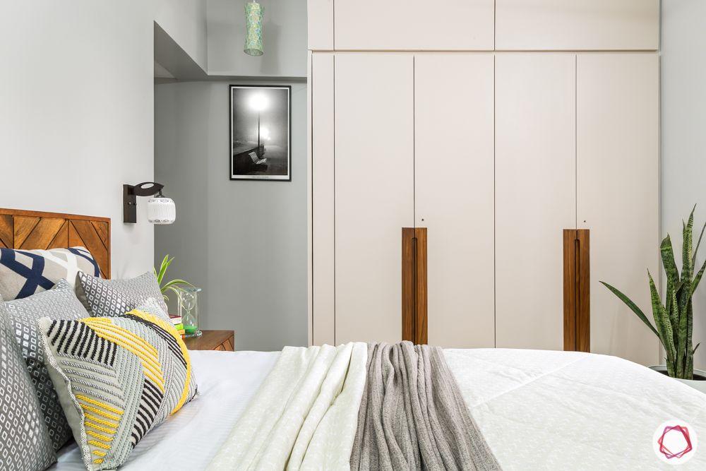 white wardrobe designs-wooden handle designs