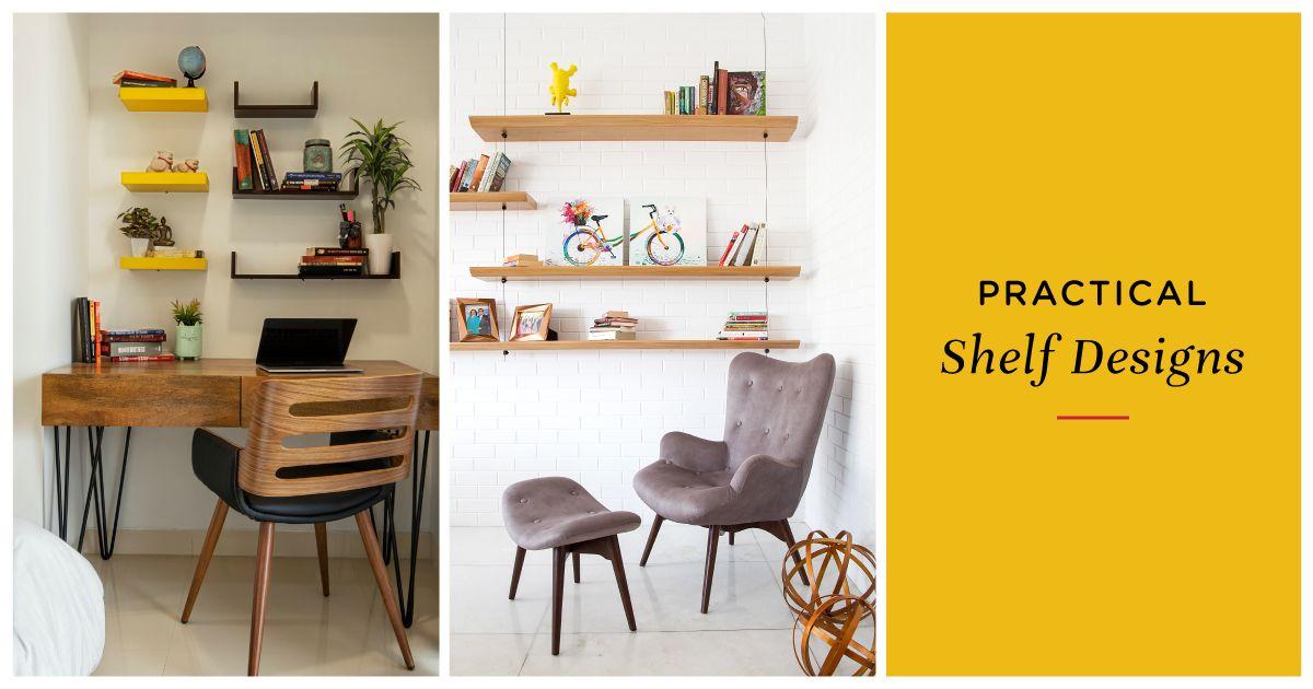 10 Simple Creative Wall Shelf Designs