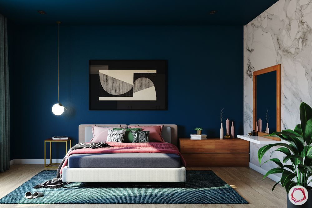 wall painting mood-navy blue wall