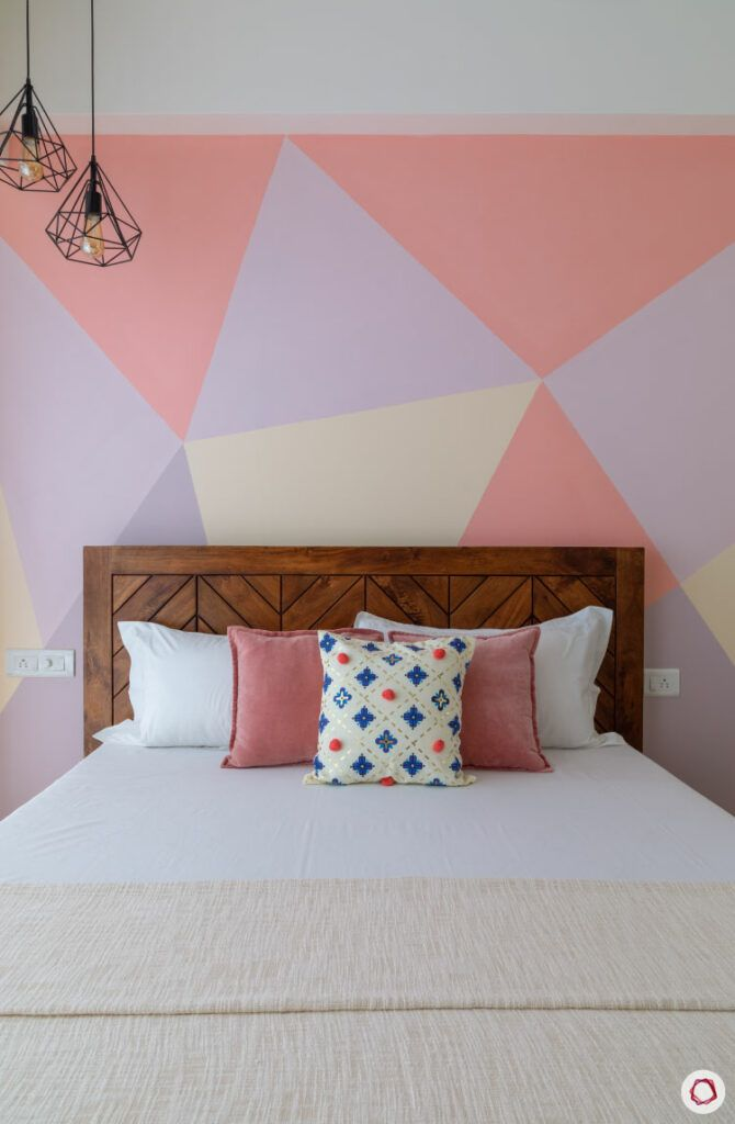 pink wall colour-wall painting mood