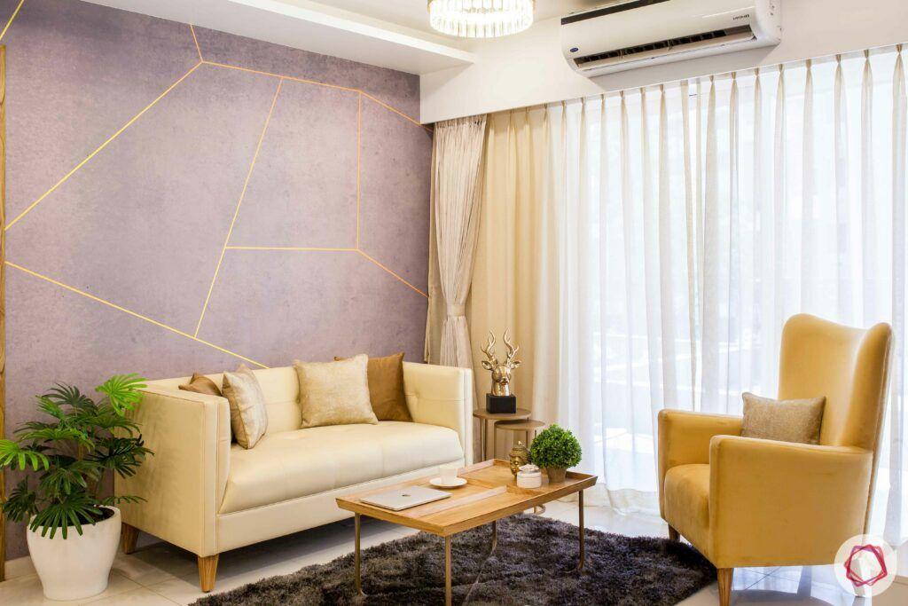 2bhk pune-cream sofa designs-coffee table