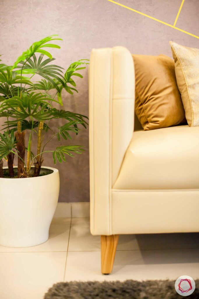 2bhk pune-grey wallpaper-potted plant