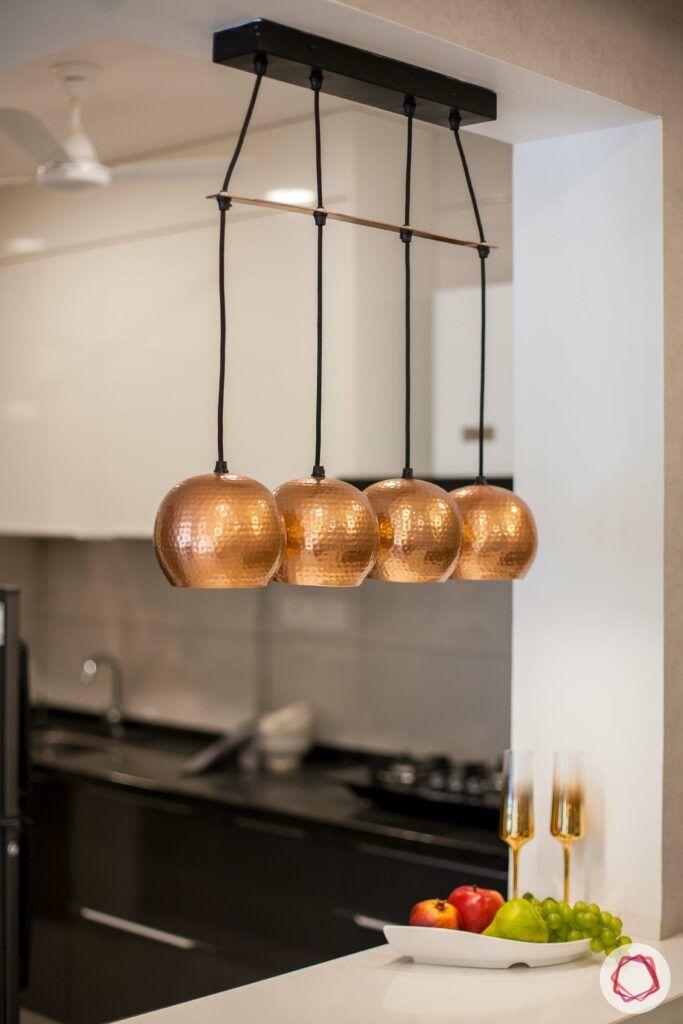 2bhk pune-pendant lights-cabinets