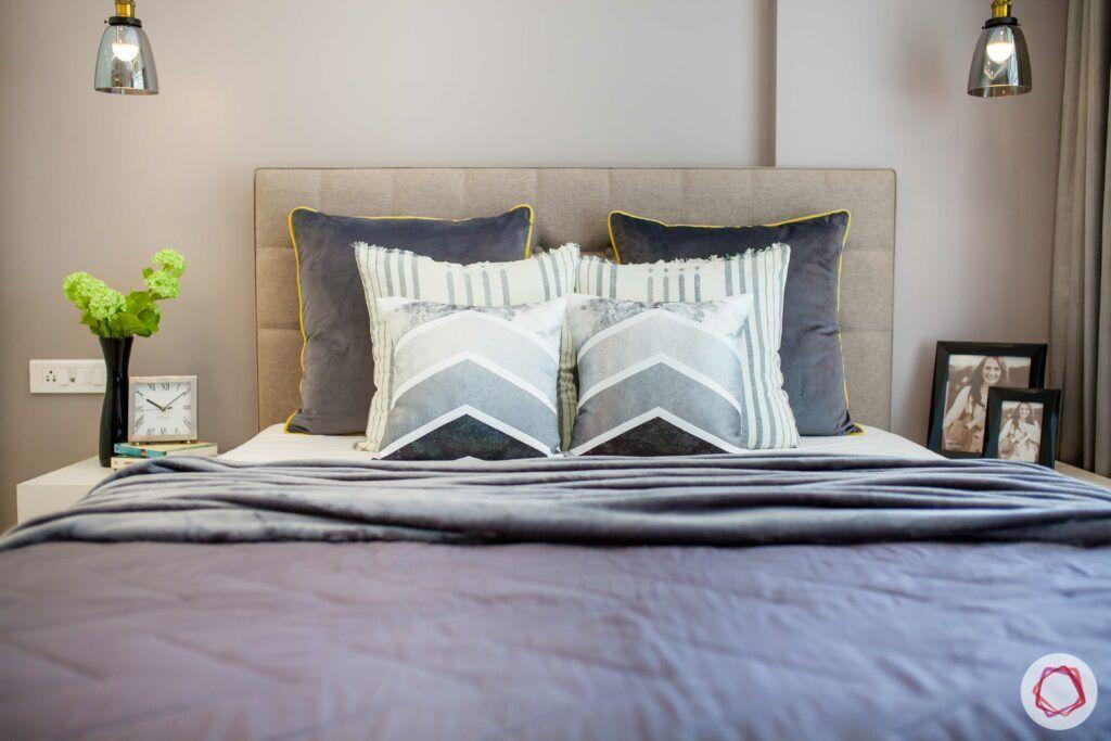 grey bedding-pendant lights