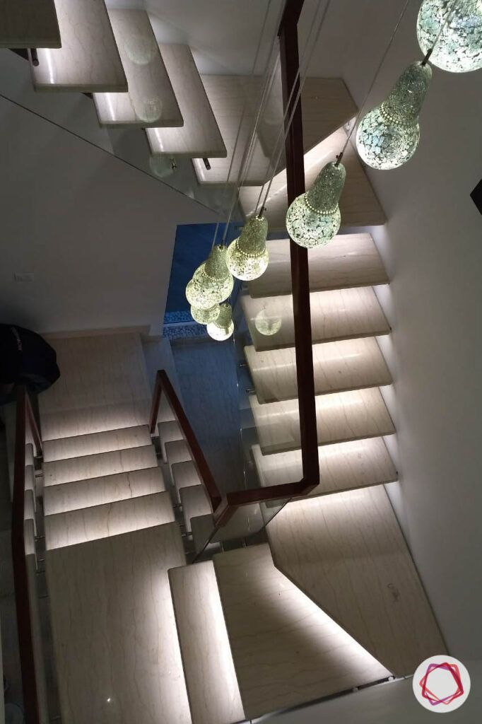 stair railing design-led lights-under step lights