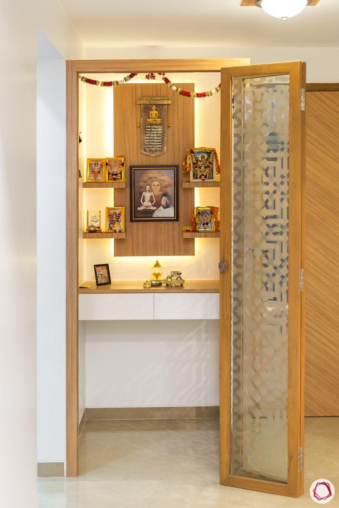 pooja room designs-glass door designs
