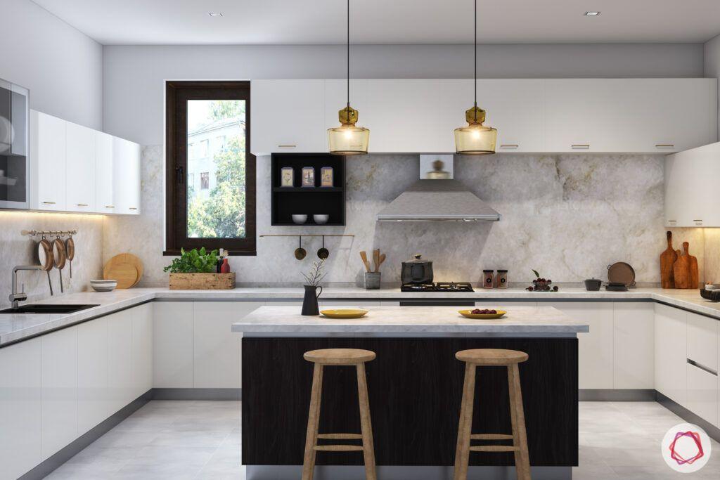 white cabinet-island designs
