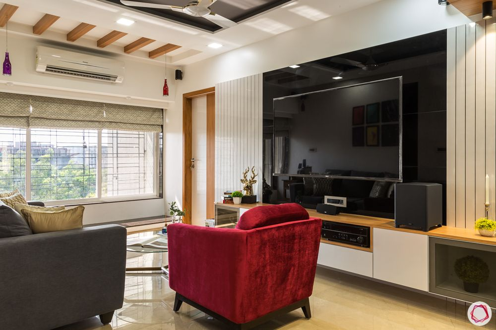 black tv unit designs-wall panelling designs